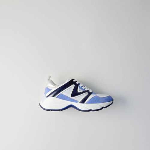Sneakers W22 en mezcla de materias : Sneakers color Azul