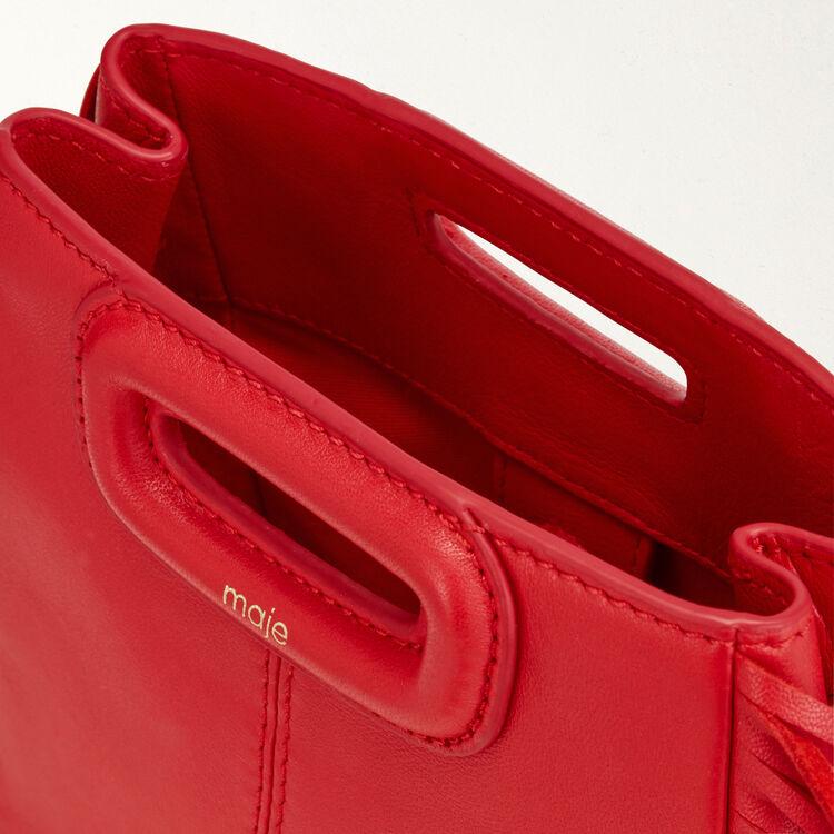 Bolso M Mini de cuero con cadena : M Mini color Rojo