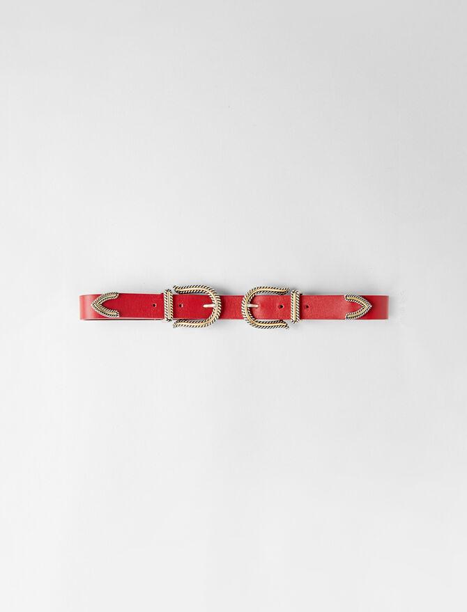 Cinturón tiro alto doble hebilla - Midseason-Sales_Accessoires_IE - MAJE