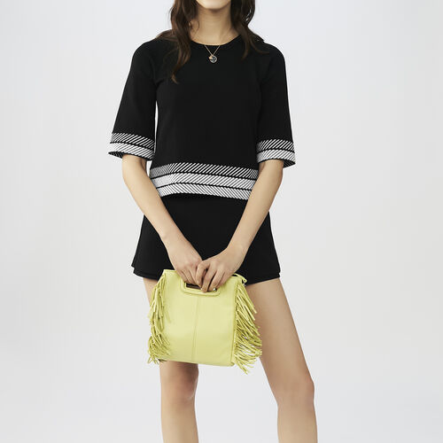Jersey ancho con mangas cortas : Malla color Negro