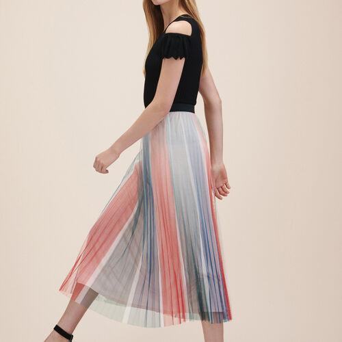 Falda plisada de largo medio : Faldas y shorts color Estampado