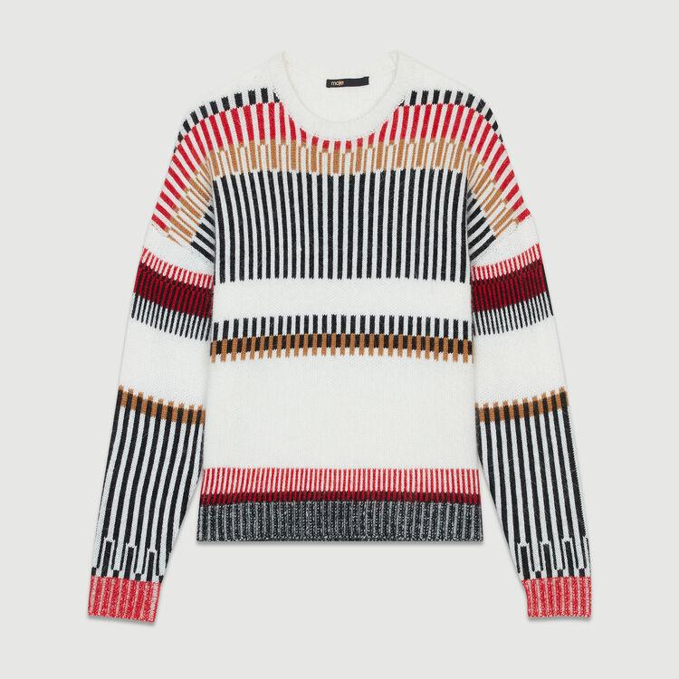 Jersey oversize de lana mezclada : Malla color Multicolor