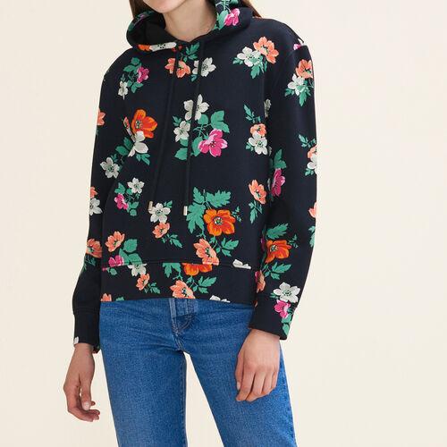 Sudadera con capucha estampada : Jerseys y cárdigans color IMPRIME