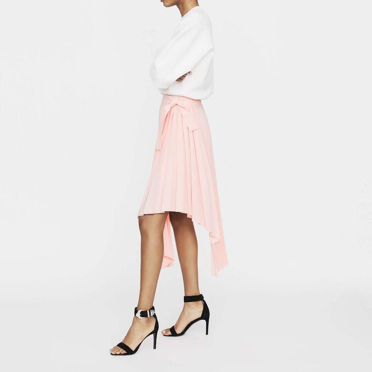 Falda plisada asimétrica : Nueva colección color PECHE