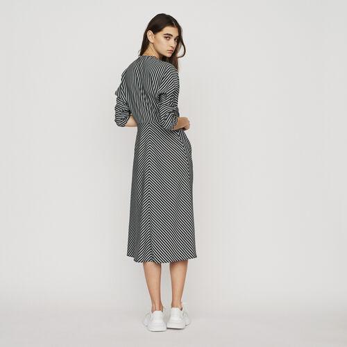 Vestido midi de rayas con cremallera : New in : Colección Verano color Rayas