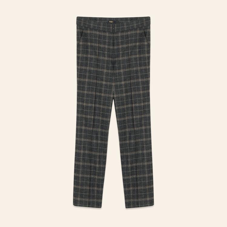 Pantalón pitillo de tartán : Pantalones y vaqueros color Jacquard