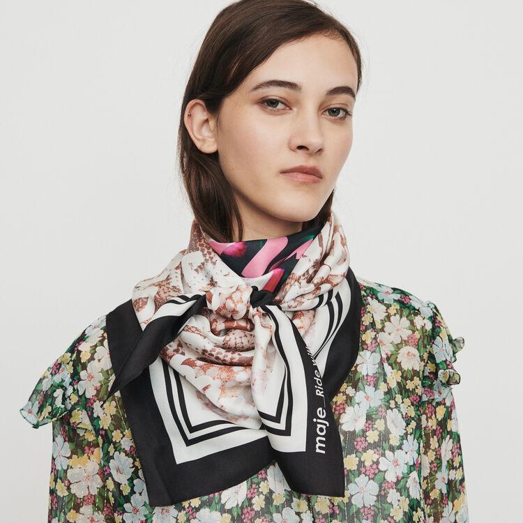 Gran pañuelo de seda : Pañuelos & Ponchos color Multicolor