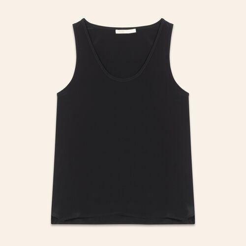 Camiseta tirantes de seda : Tops color Negro