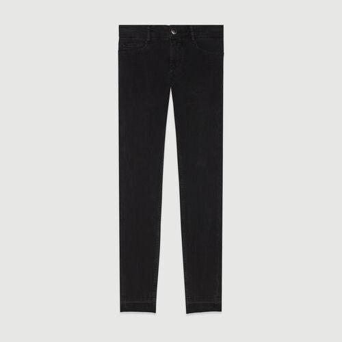 Jean skinny de algodón Strech : Pantalones y Jeans color Antracita