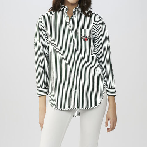Camisa de algodón a rayas : Camisas color Rayas