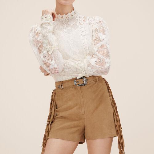Short de ante : Faldas y shorts color Beige