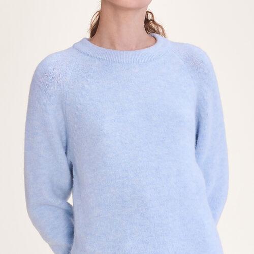 Jersey holgado esponjoso : Malla color Azul Celeste