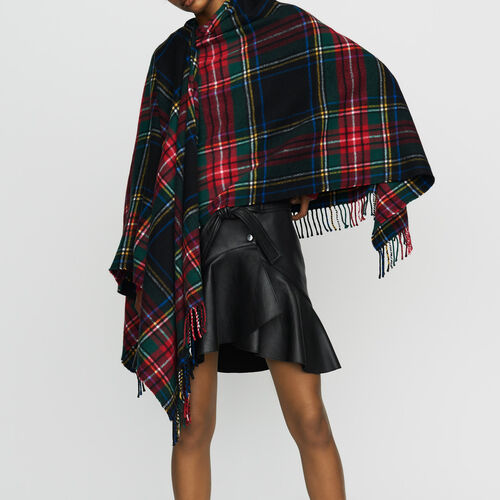 Poncho estampado tartan : Malla color Multicolor