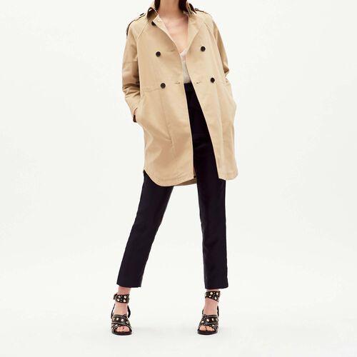 Cotton trench coat : Abrigos & Cazadoras color Beige