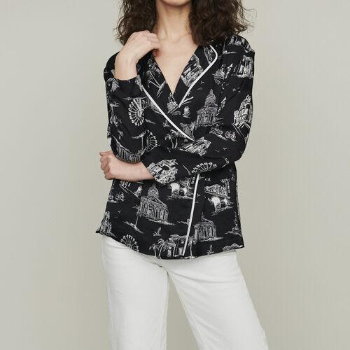 Blusa estampado Paris : Camisas color NEGRO