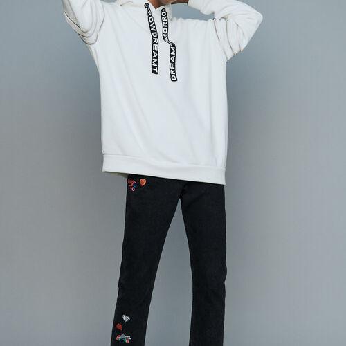Sudadera con capucha y multi : Nueva Colección color Blanco