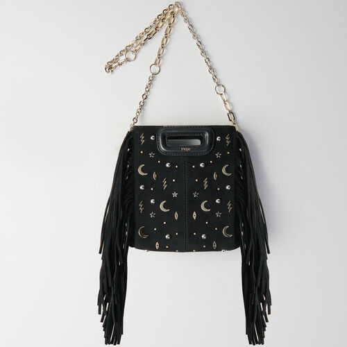 Mini studded suede M bag with chain : M Mini color Negro
