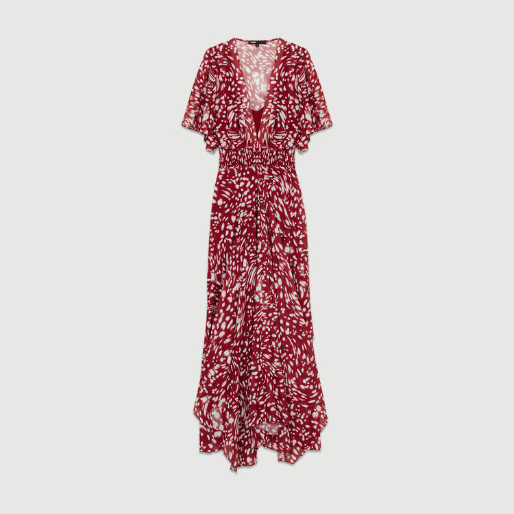 Vestido largo asimétrico estampado : Vestidos color IMPRIME