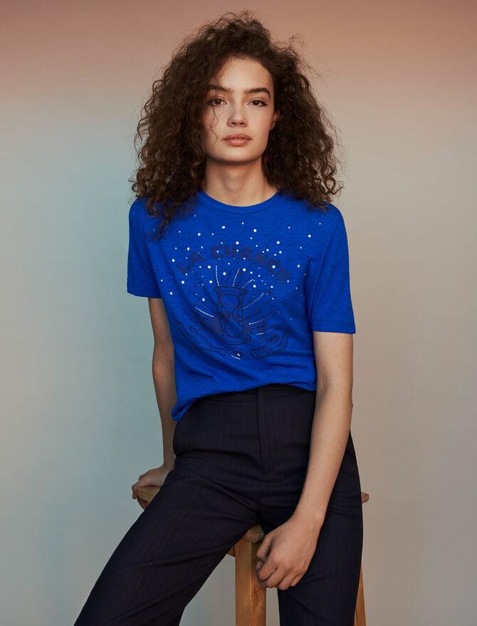 Camiseta bordada - T-Shirts - MAJE