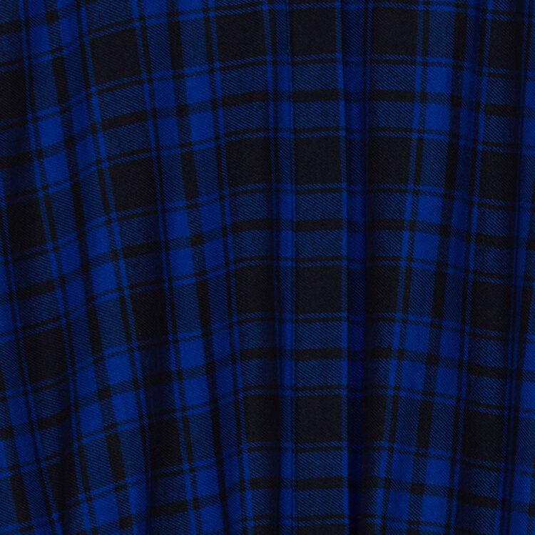 Vestido-camisero largo de cuadros : Vestidos color CARREAUX