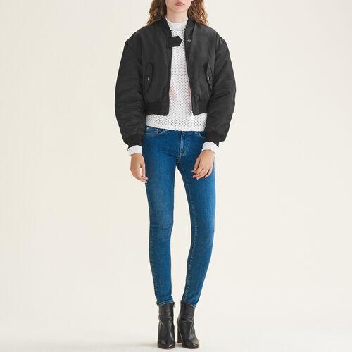 Vaquero ceñido de algodón stretch : Jeans color Azul