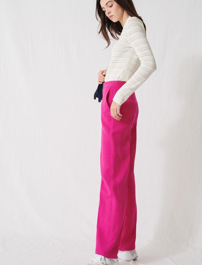 Pantalón de traje rosa fucsia - Pantalones y Jeans - MAJE