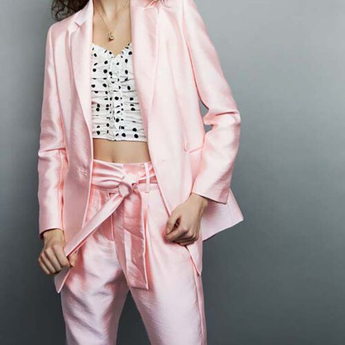 Satin blazer : Chaquetas color Rosa
