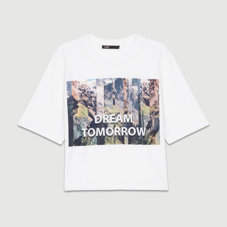 Camiseta corta estampada : Nueva Colección color Blanco