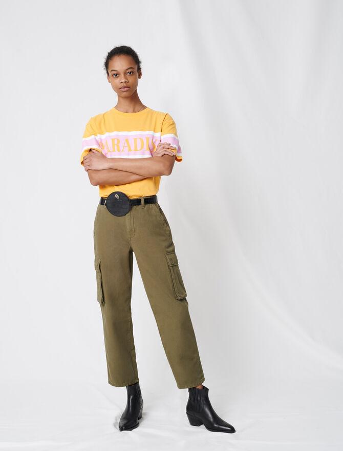 Pantalón de denim de estilo cargo - Pantalones y Jeans - MAJE
