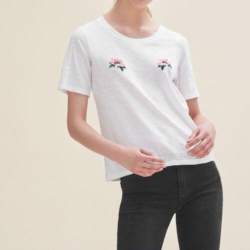 Camiseta con bordados - T-Shirts - MAJE