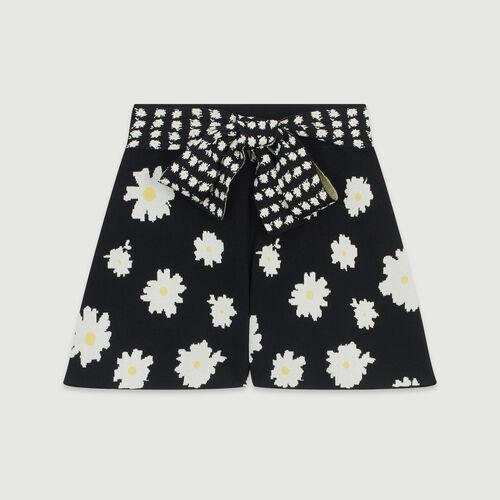 Pantalones cortos atados a la cintura : Faldas y shorts color Jacquard
