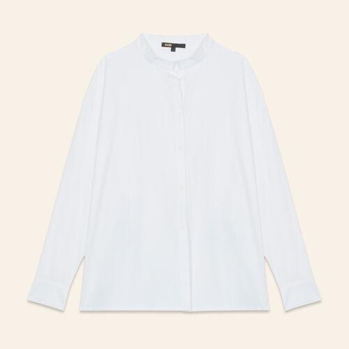 Camisa asimétrica de popelina - Camisas - MAJE