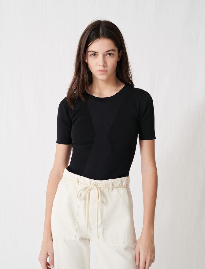 Jersey de manga corta negro carbón - Jerseys y cárdigans - MAJE