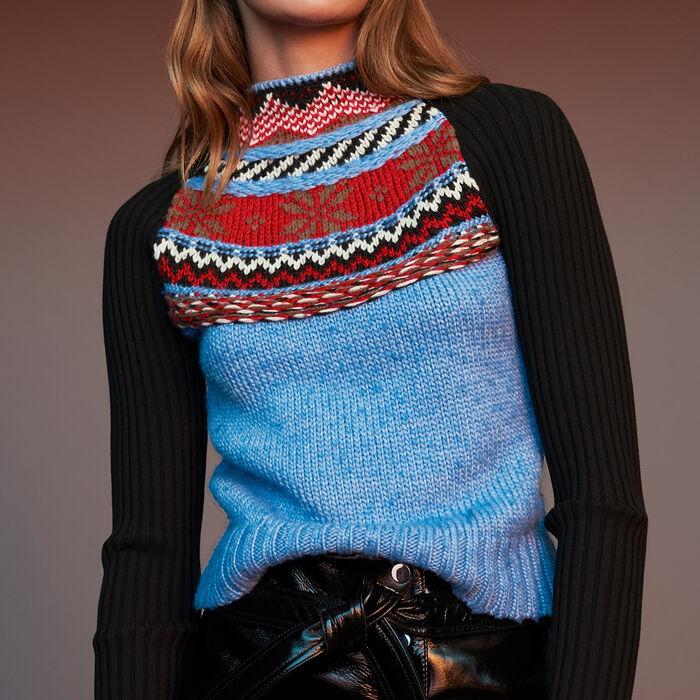 Jersey de punto Jacquard fantasía : Malla color Multicolor