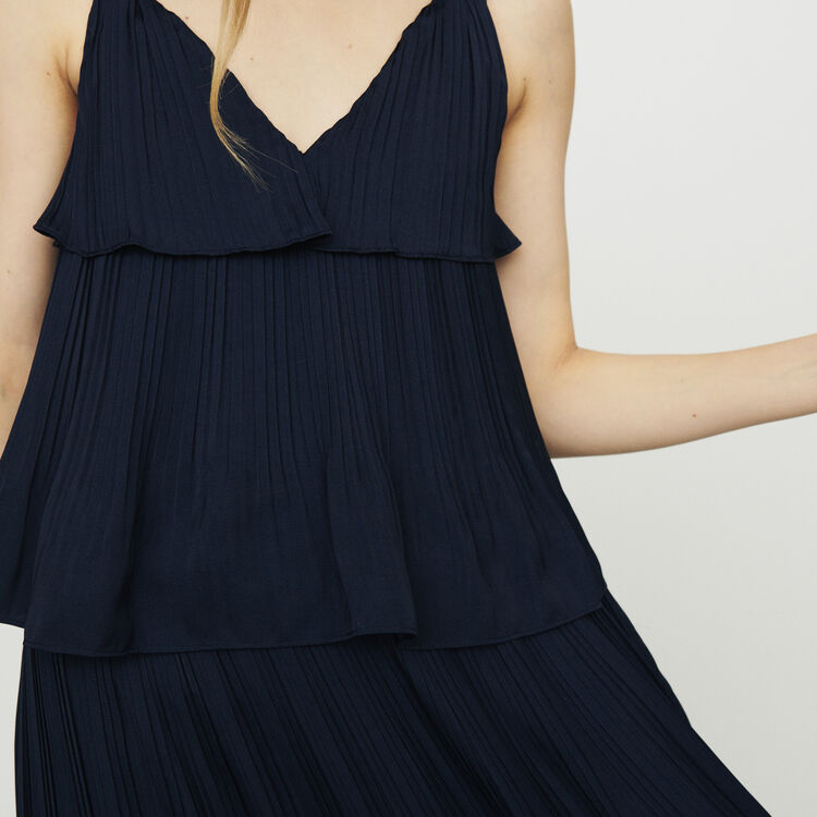 17d8825b13 ROCKANIL Vestido largo plisado con tela de raso - Vestidos - Maje.com