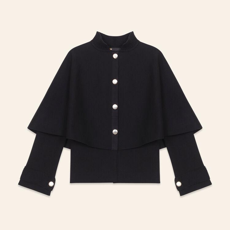 Kurzer Cardigan im Cape-Stil : Jerseys y cárdigans color Negro