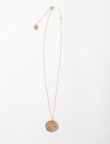 Collar de signo del Zodíaco Acuario : Bisuteria color Latón Envejecido