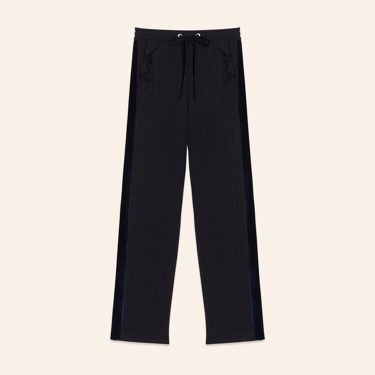Pantalón recto estilo chándal : Pantalones y vaqueros color Negro