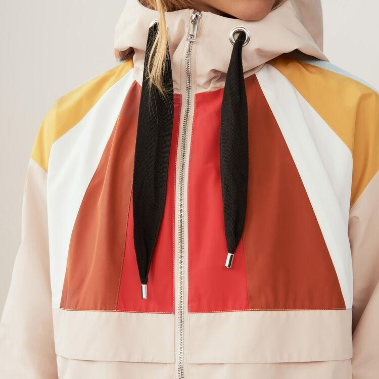 Anorak corto multicolor : Cazadoras color Beige