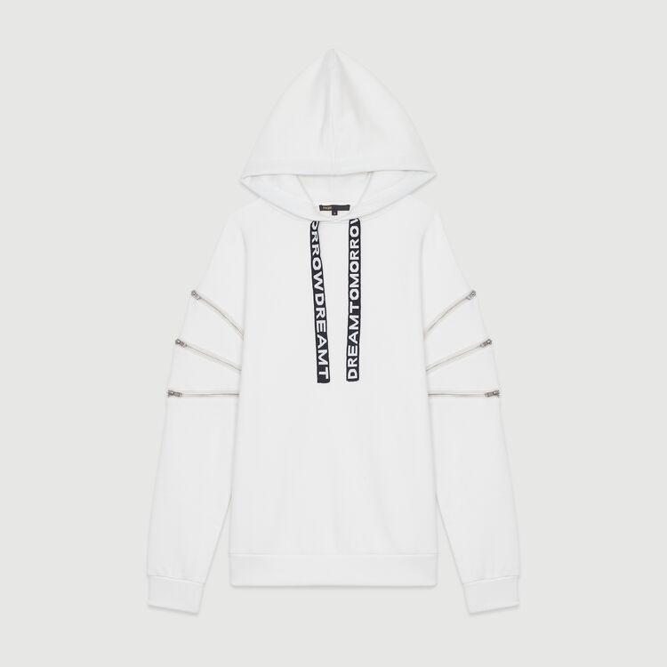 Sudadera con capucha y multi : Sudareras color Blanco