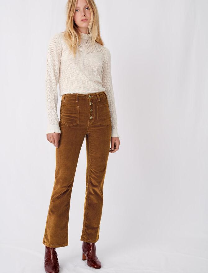 Pantalón recto de terciopelo - Pantalones y Jeans - MAJE
