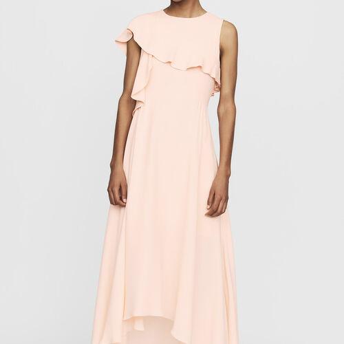 Vestido largo asimétrico sin mangas d3f9c8708661