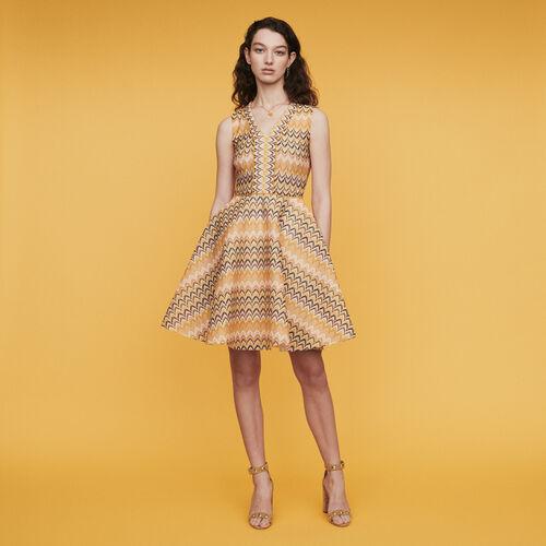 Vestido patinadora de punto rayado : Vestidos color Multicolor