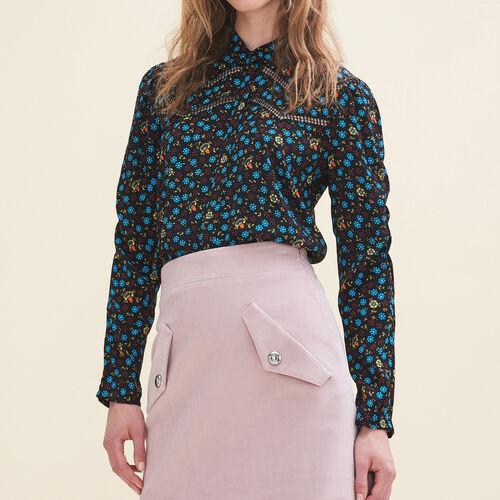 Camisa con estampado floral : Camisas color IMPRIME