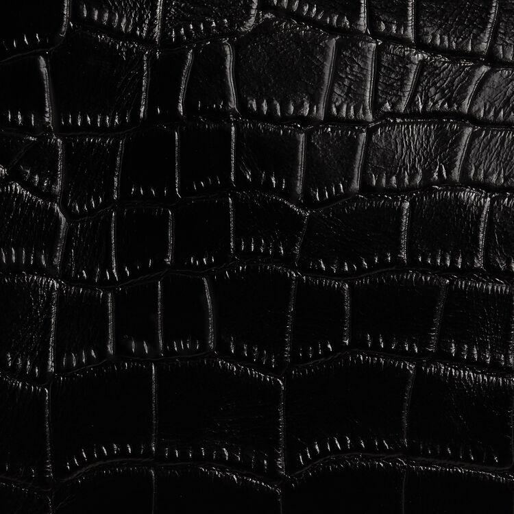 Cartera M Duo en croco : Piel color Negro