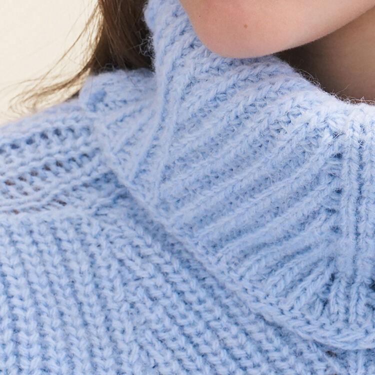Jersey con cuello vuelto extragrande : Jerseys y cárdigans color Azul Celeste
