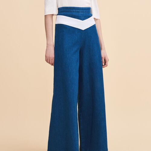 Falda pantalón vaquera : Pantalones y vaqueros color Denim