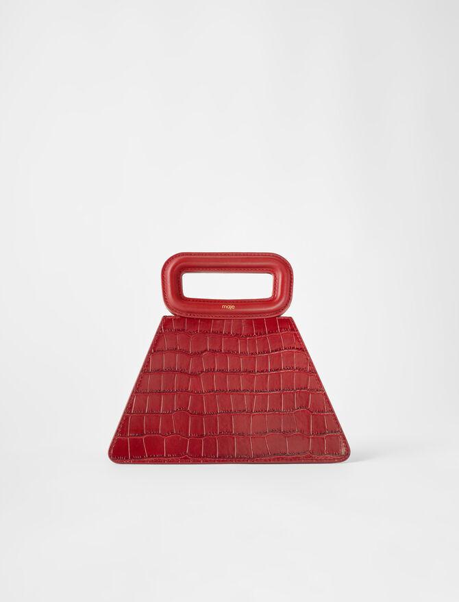 Bolso piramidal con asa de piel -  - MAJE