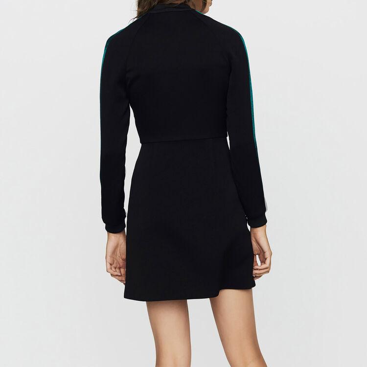 Vestido-teddy bicolor : Vestidos color Negro