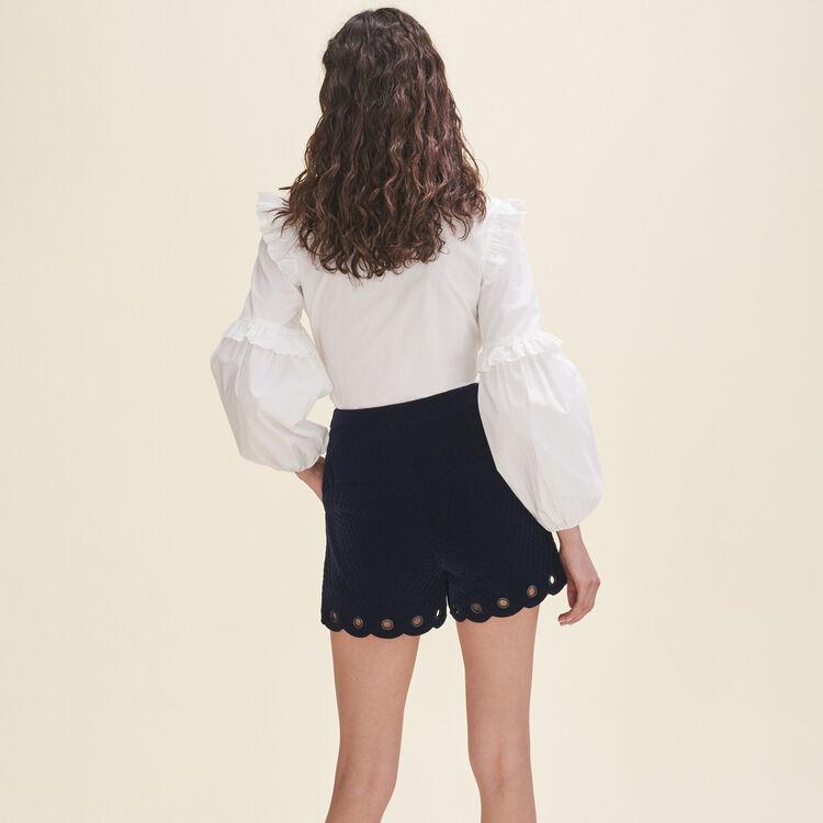 Short de terciopelo acolchado : Faldas y shorts color Azul Marino